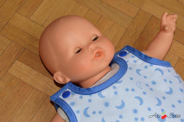 gigoteuse pour poupée   patron couture gratuit   sewing   bébé   doll   poupon   trousseau de naissance pour poupée