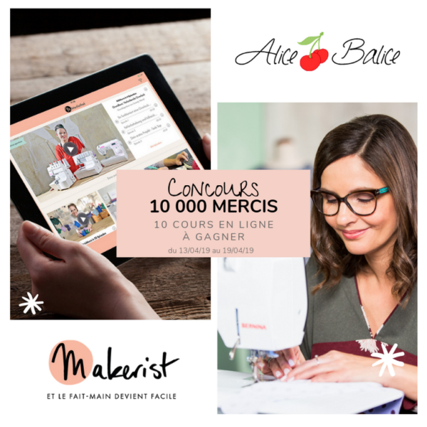 alice balice | 10 concours DIY pour fêter mes 10000 followers sur Facebook | makerist