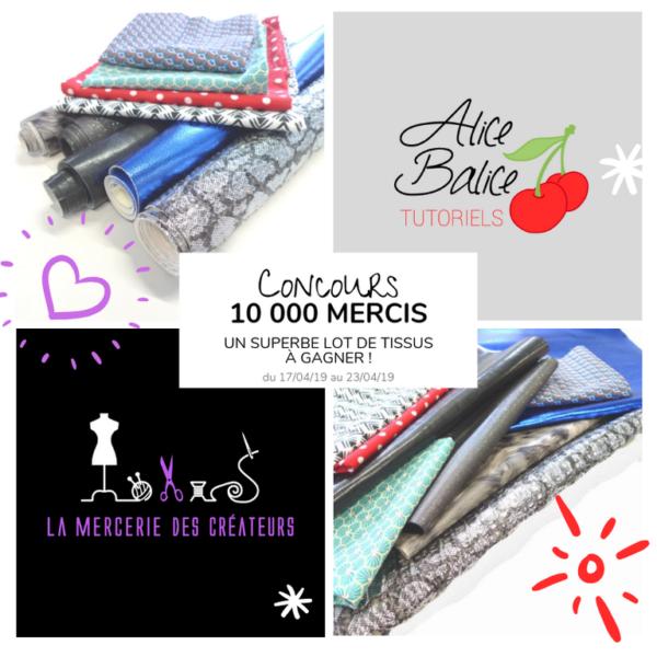 alice balice | 10 concours DIY pour fêter mes 10000 followers sur Facebook | mercerie des créateurs