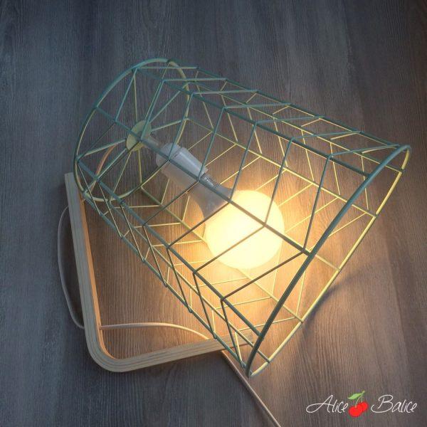 Lampe baladeuse design | tuto DIY gratuit | corbeille en papier | mint cuivre