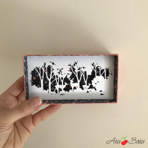 alice balice | boite surprise | paysage en papier | recup | magie | magique | foret