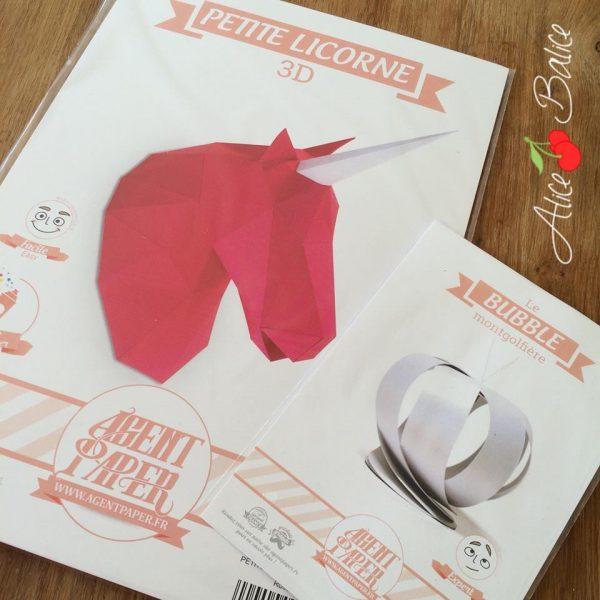 alice balice | licorne origami | unicorn | agent paper | test produit