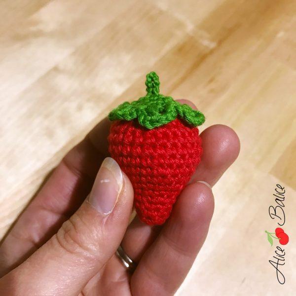 alice balice | fraise au crochet | tutoriel gratuit | tuto | tutorial