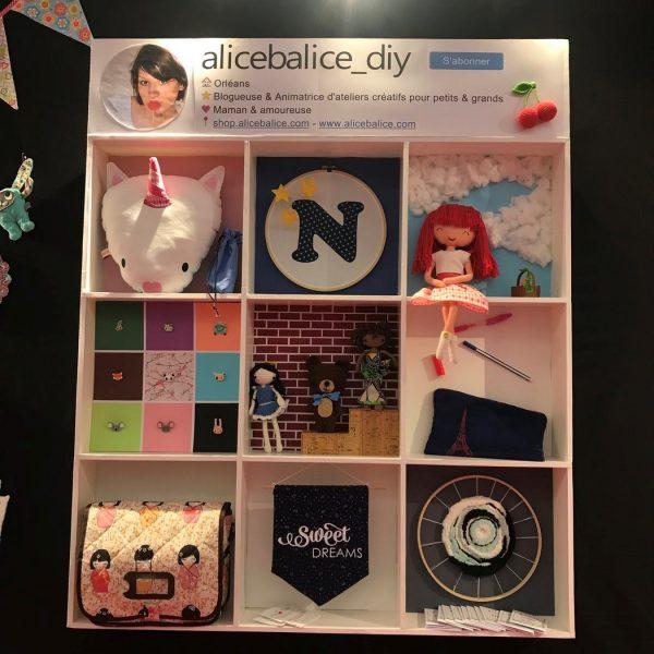 alice balice | étagère en carton plume | best nine | catonnage | boîte