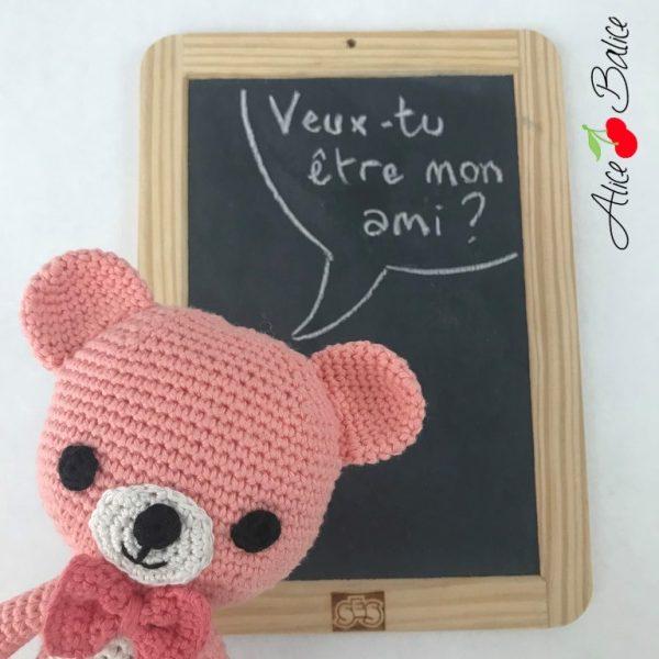alice balice | tutoriel ourson crochet | Tromignon | amigurumi