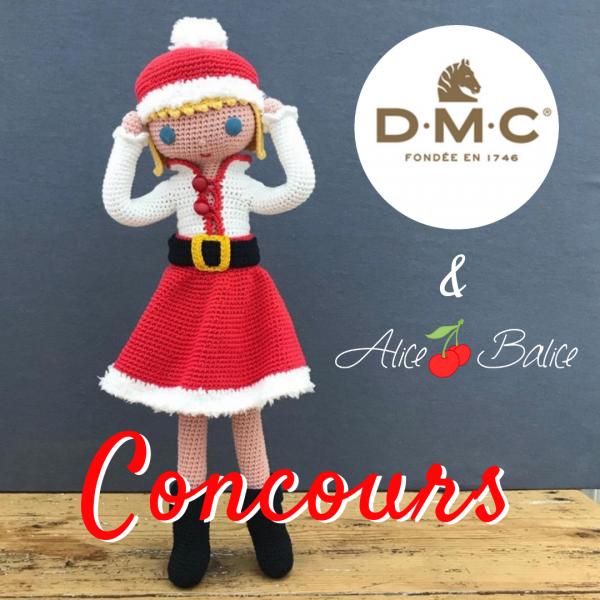 alice balice | concours en partenariat avec DMC | noël | crochet | pelotes | poupée Clems | amigurumi