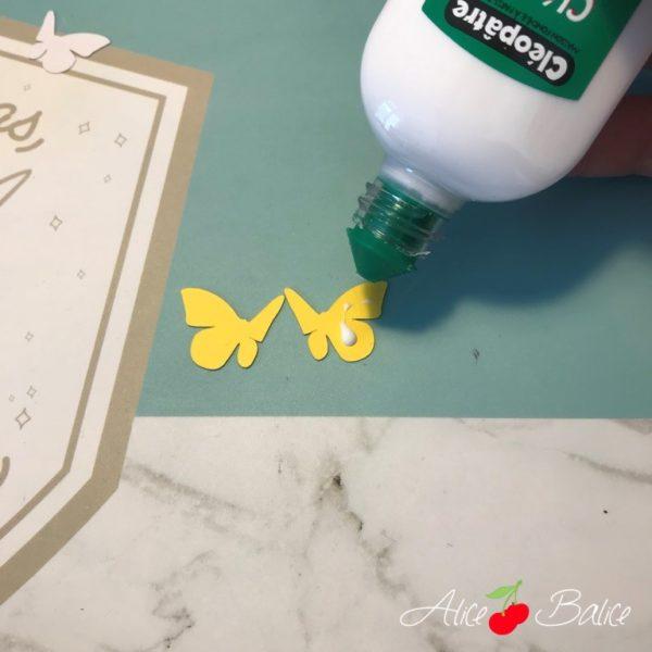 alice balice | invitations anniversaire | papillons | printemps | paillettes | cameo silhouette