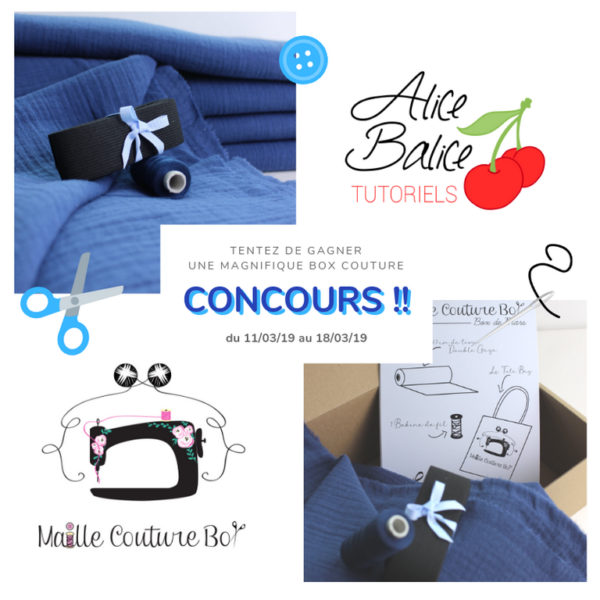 alice balice | concours maille couture box | box créative couture et tricot