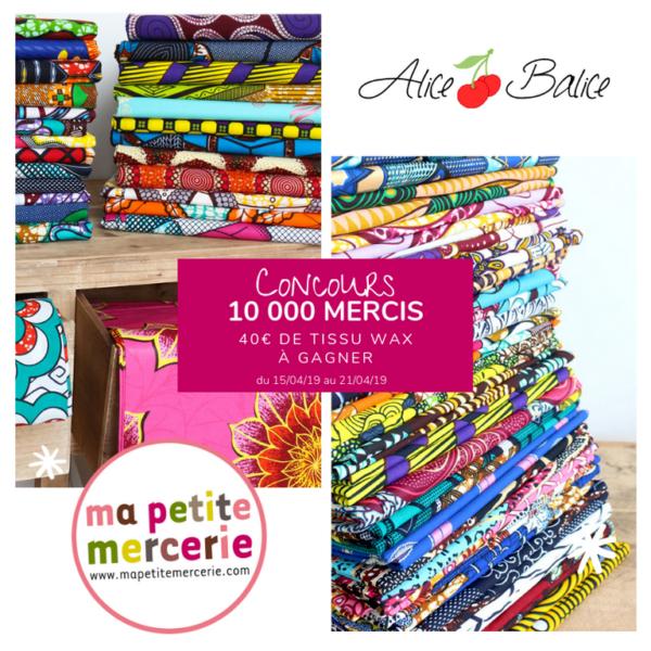 alice balice | 10 concours DIY pour fêter mes 10000 followers sur Facebook | ma petite mercerie